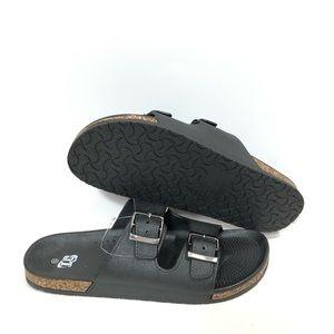 Other - Black Unbranded Birken Men's Sandals Sz 12 NEW